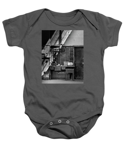 Clocked Out Baby Onesie