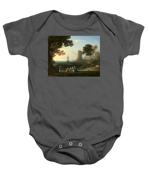 Coast View With The Abduction Of Europa Baby Onesie
