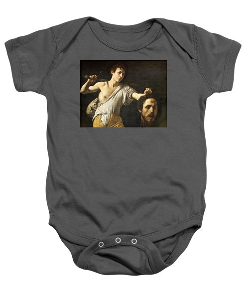 David With The Head Of Goliath Baby Onesie