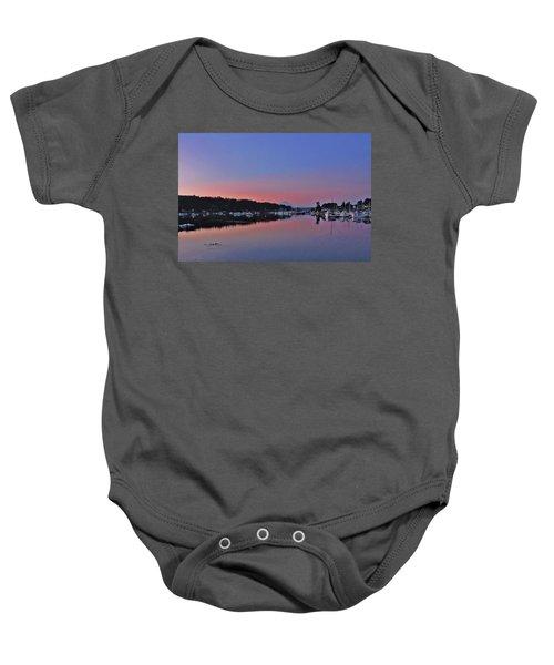 Dawn At Gig Harbor Baby Onesie