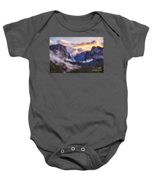 Daybreak Over Yosemite Baby Onesie