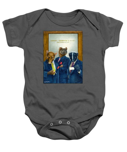 Dewey, Cheetum And Howe... Baby Onesie