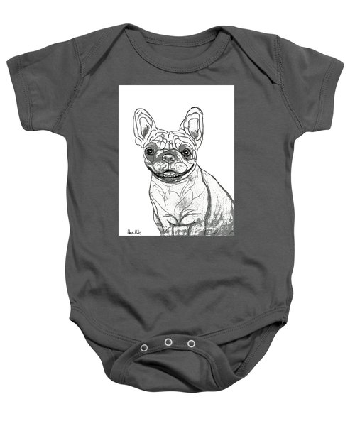 Dog Sketch In Charcoal 7 Baby Onesie