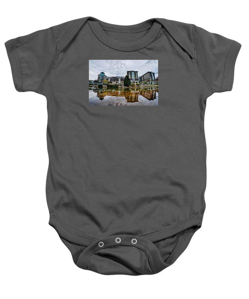 Downtown Of Greenville South Carolina Around Falls Park Baby Onesie