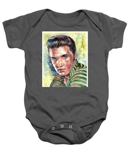 Elvis Presley Portrait Baby Onesie