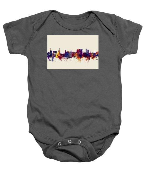Fayetteville Arkansas Skyline Baby Onesie by Michael Tompsett