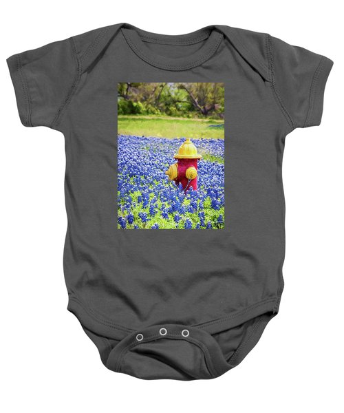 Fire Hydrant In The Bluebonnets Baby Onesie