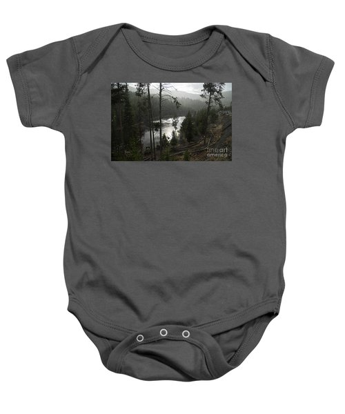 Firehole River In Yellowstone Baby Onesie