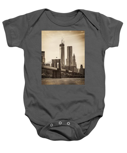 Freedom Tower Rising Baby Onesie
