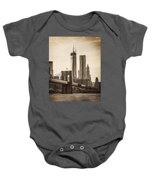 Freedom Tower Rising Baby Onesie