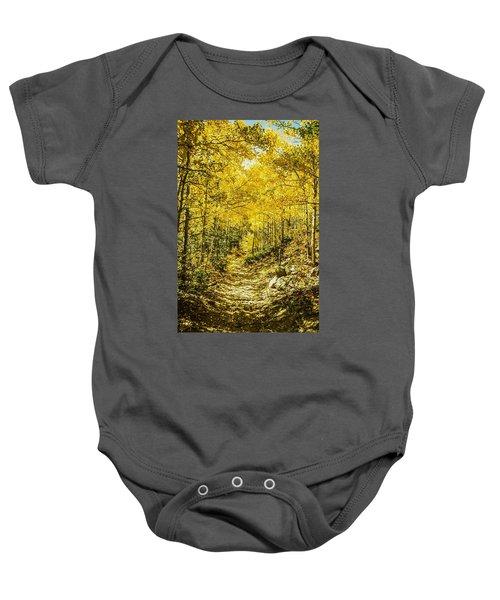 Golden Aspens In Colorado Mountains Baby Onesie