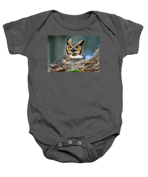 Great Horned Owl Baby Onesie