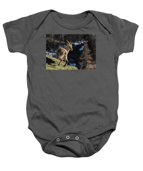 Ibex On The Mountains Baby Onesie