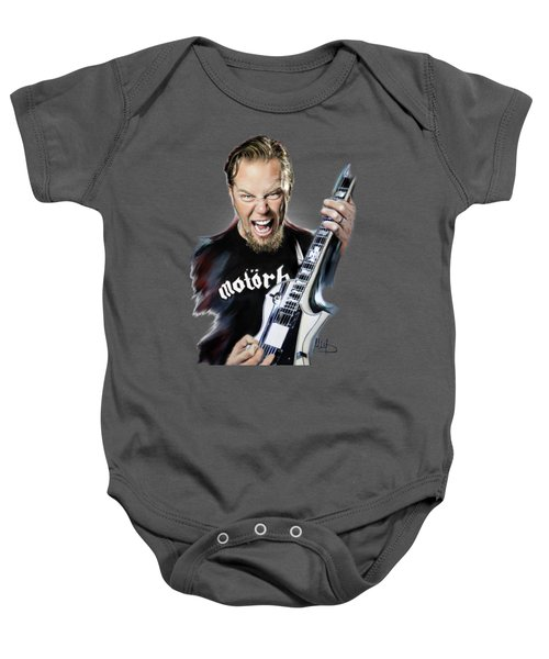 James Hetfield Baby Onesie