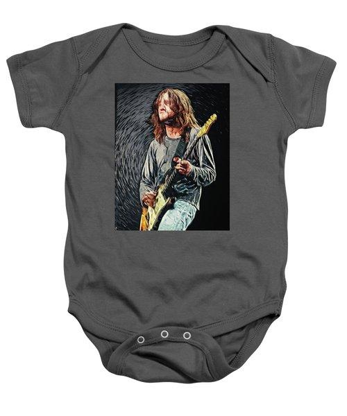John Frusciante Baby Onesie by Taylan Apukovska