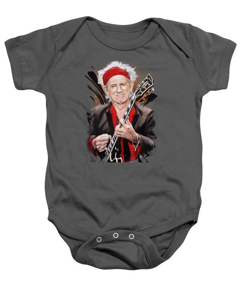 Keith Richards Baby Onesie by Melanie D