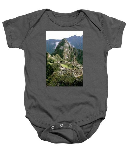Machu Picchu At Sunrise Baby Onesie