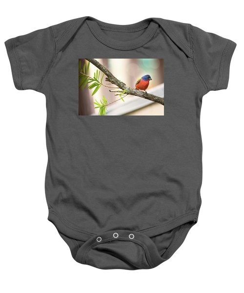 Male Painted Bunting Baby Onesie