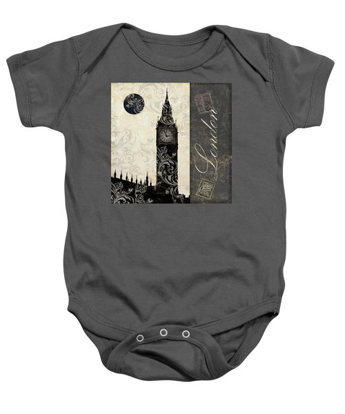 Moon Over London Baby Onesie by Mindy Sommers