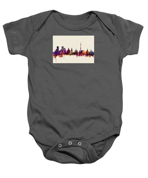 Moscow Russia Skyline Baby Onesie