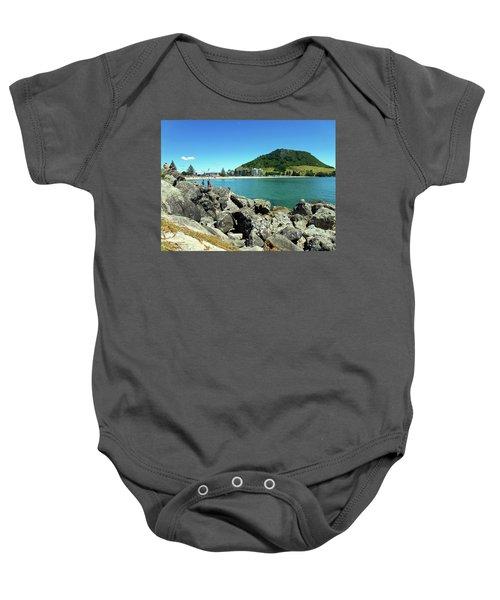 Mt Maunganui Beach 11 - Tauranga New Zealand Baby Onesie