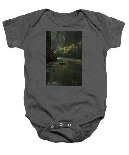 Mystical Canyon Signed Baby Onesie