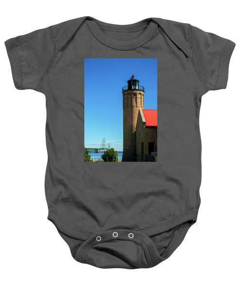 Old Mackinac Point Lighthouse Baby Onesie