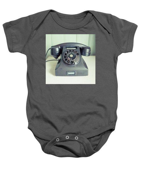 Old Telephone Square Baby Onesie