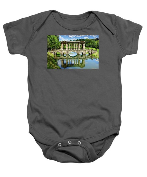 Palladian Bridge Nature Scene Baby Onesie