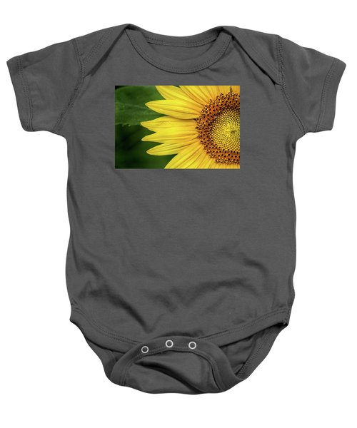 Partial Sunflower Baby Onesie