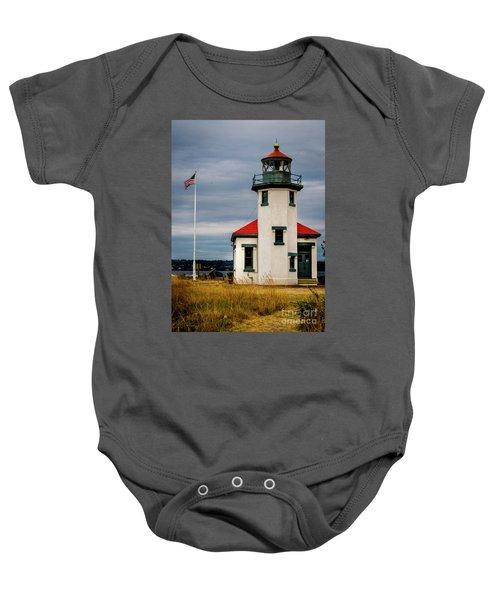 Point Robinson  Lighthouse,vashon Island.wa Baby Onesie
