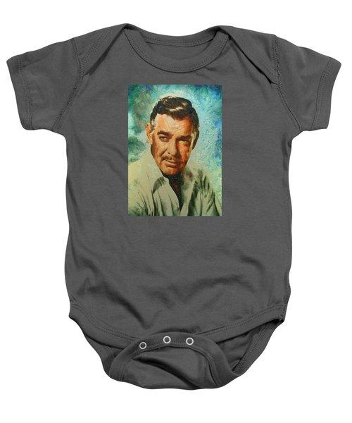Portrait Of Clark Gable Baby Onesie