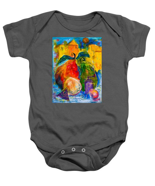 Red And Green Pears Baby Onesie