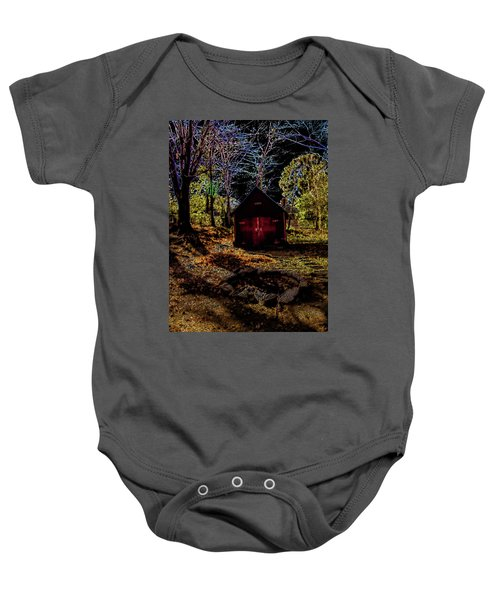 Red Shed Baby Onesie
