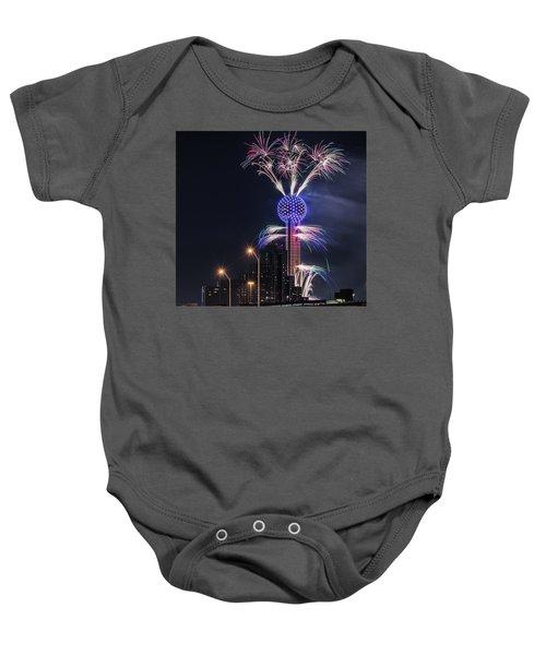 Reunion Tower Fireworks Baby Onesie