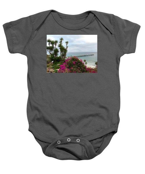 San Clemente Pier Baby Onesie