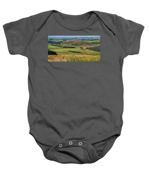 Scotland View From The English Borders Baby Onesie by Jeremy Lavender Photography