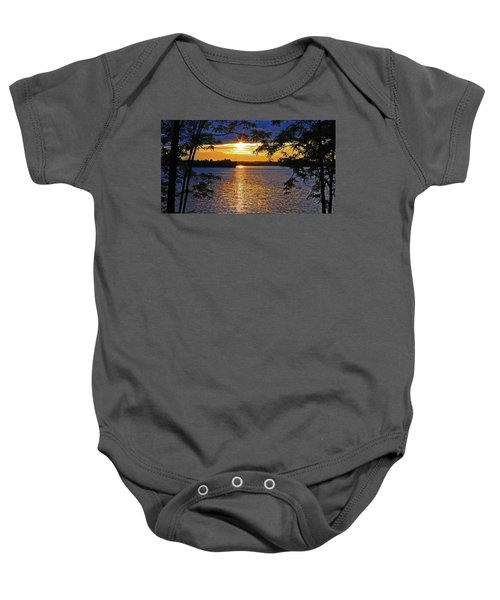 Smith Mountain Lake Summer Sunet Baby Onesie