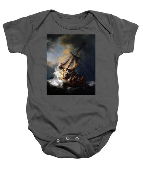 Storm On The Sea Of Galilee Baby Onesie