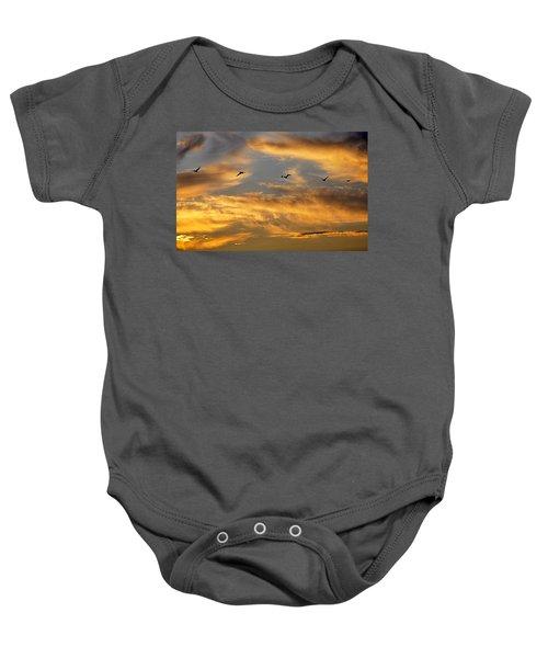 Sunset Flight Baby Onesie