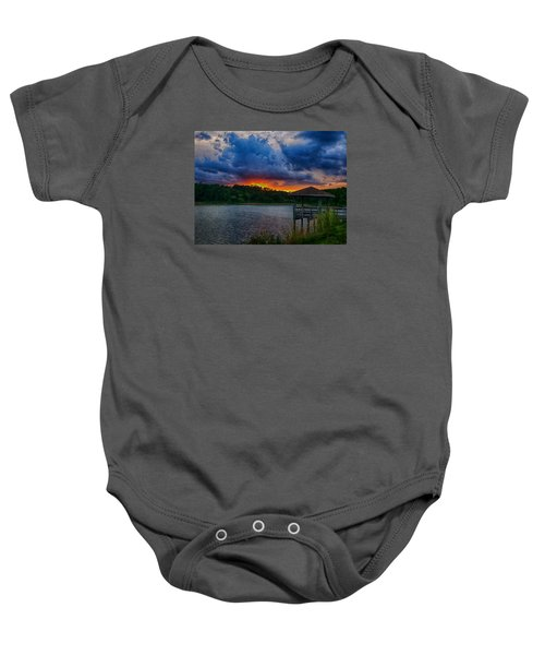 Sunset Huntington Beach State Park Baby Onesie by Bill Barber