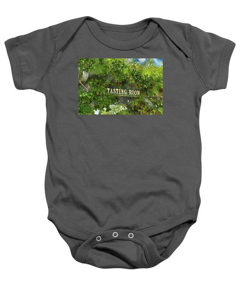 Tasting Room Sign Baby Onesie