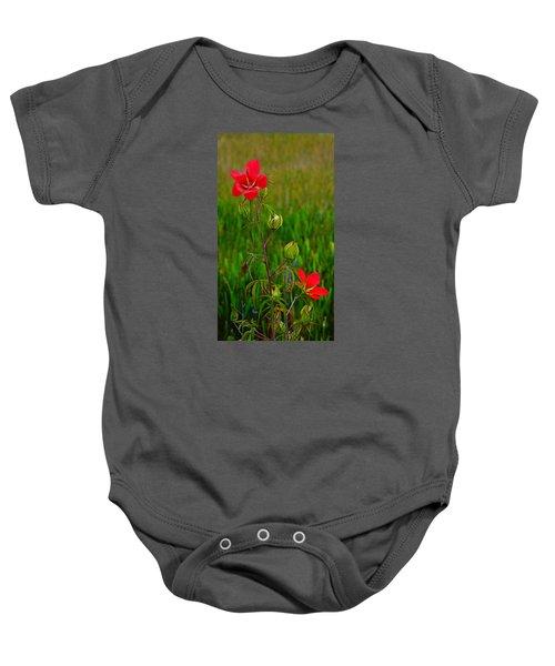 Texas Star Hibiscus Baby Onesie