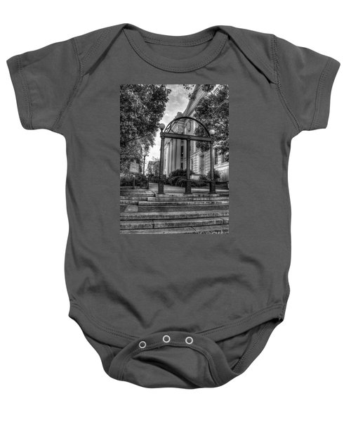 The Arch 5 University Of Georgia Arch Art Baby Onesie