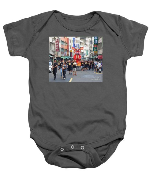 The Fire Lion Procession In Southern Taiwan Baby Onesie