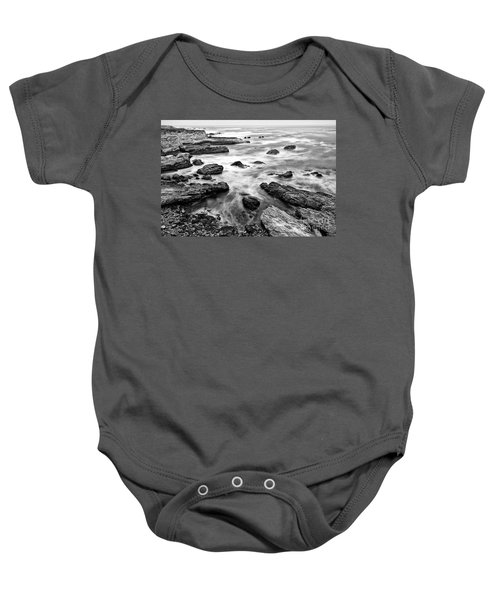The Jagged Rocks And Cliffs Of Montana De Oro State Park Baby Onesie