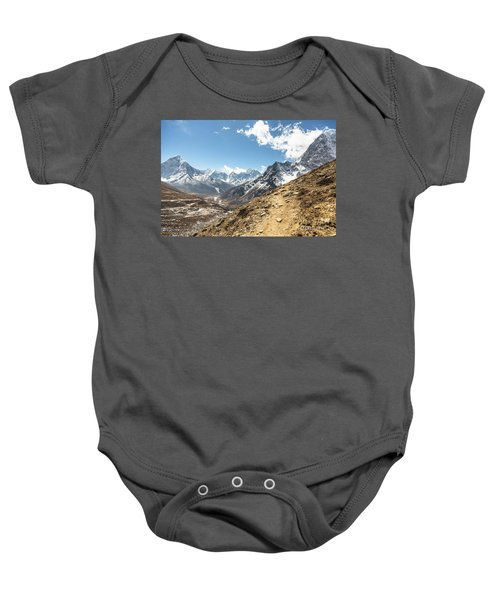 The Path To Cho La Pass In Nepal Baby Onesie