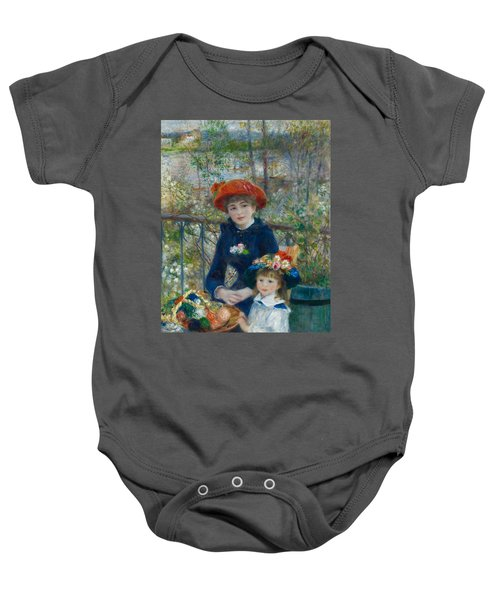Two Sisters On The Terrace Baby Onesie