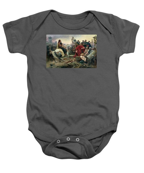 Vercingetorix Throws Down His Arms At The Feet Of Julius Caesar Baby Onesie