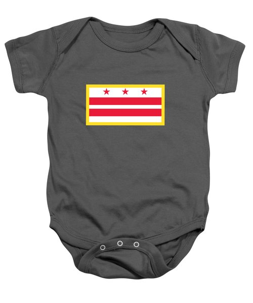 Washington, D.c. Flag Baby Onesie by Frederick Holiday